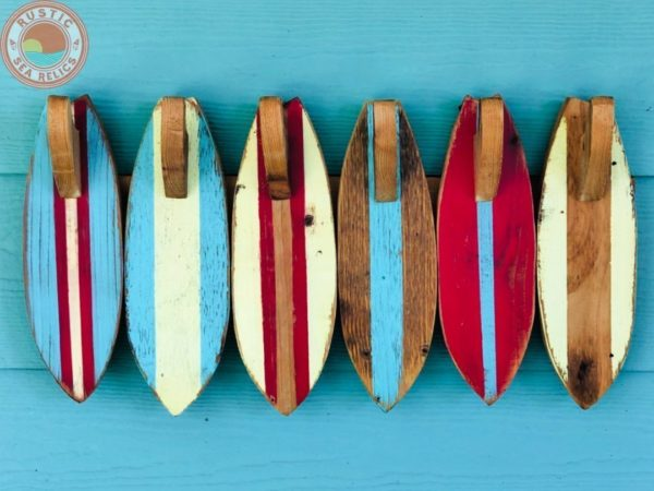 wood surfboard towel hooks