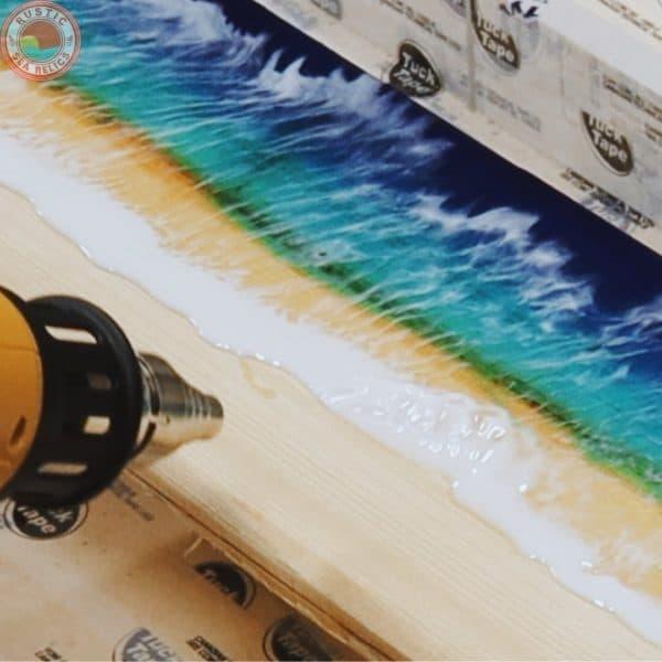 Resin Ocean Art on Wood DIY Plans