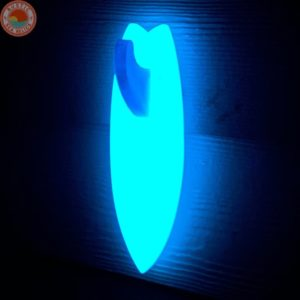 glowing surfboard beach towel holder