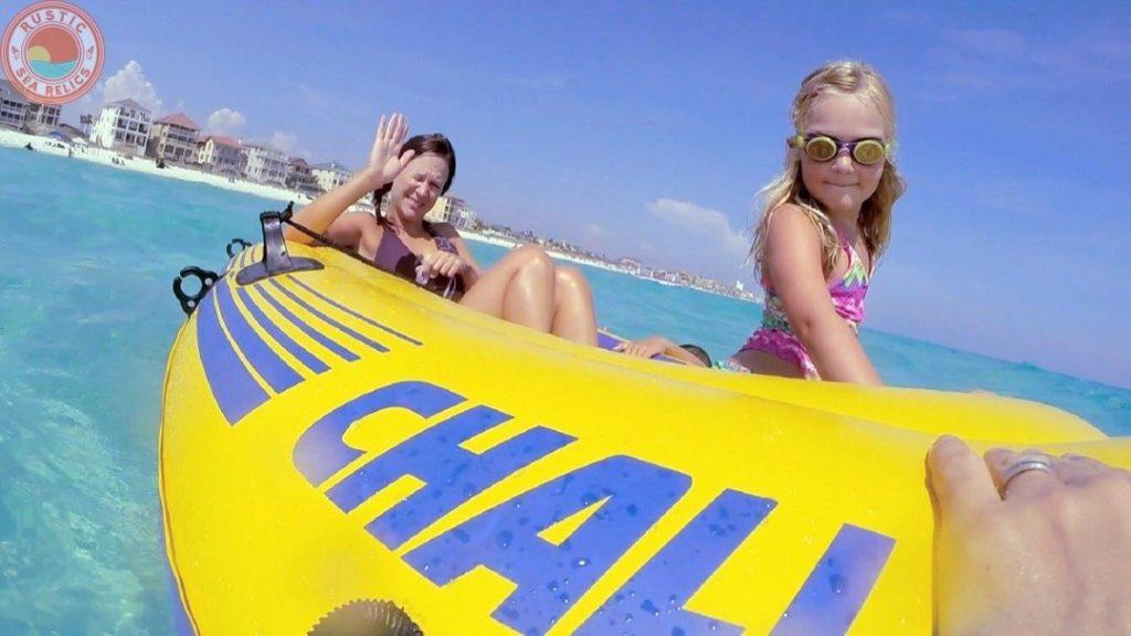 raft on second sandbar in destin florida