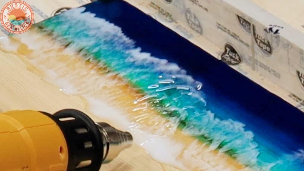 ocean wall art tutorial