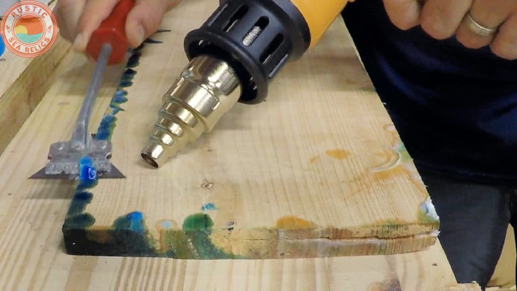 remove resin drips
