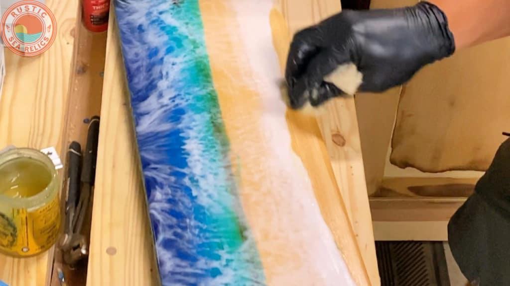 resin ocean wall art tutorial