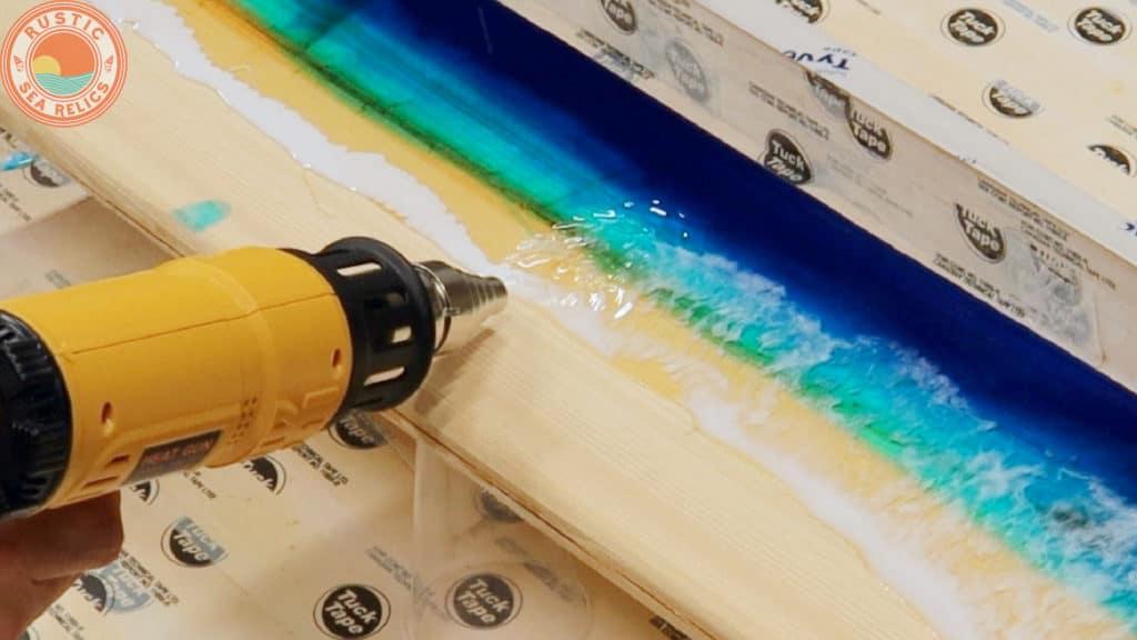 DIY resin ocean waves
