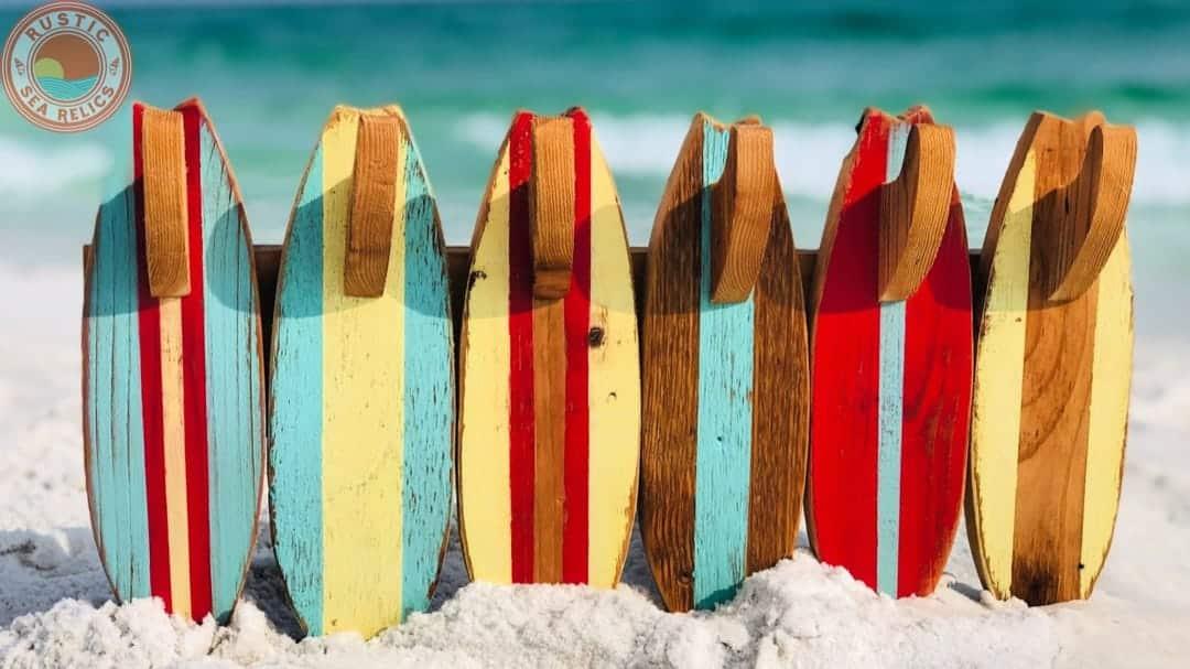 wood resin ocean wall art