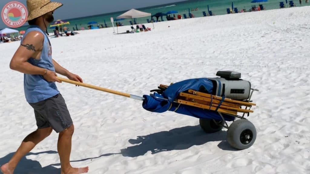 beach cart balloon wheels