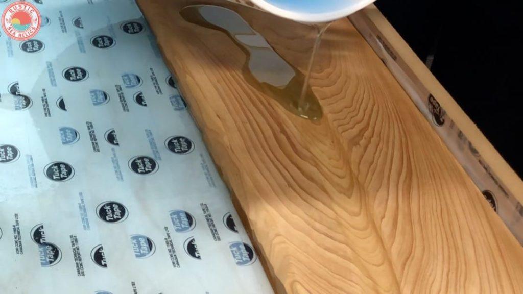 resin wood art epoxy pour