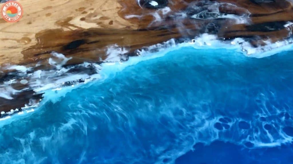 ocean art resin waves
