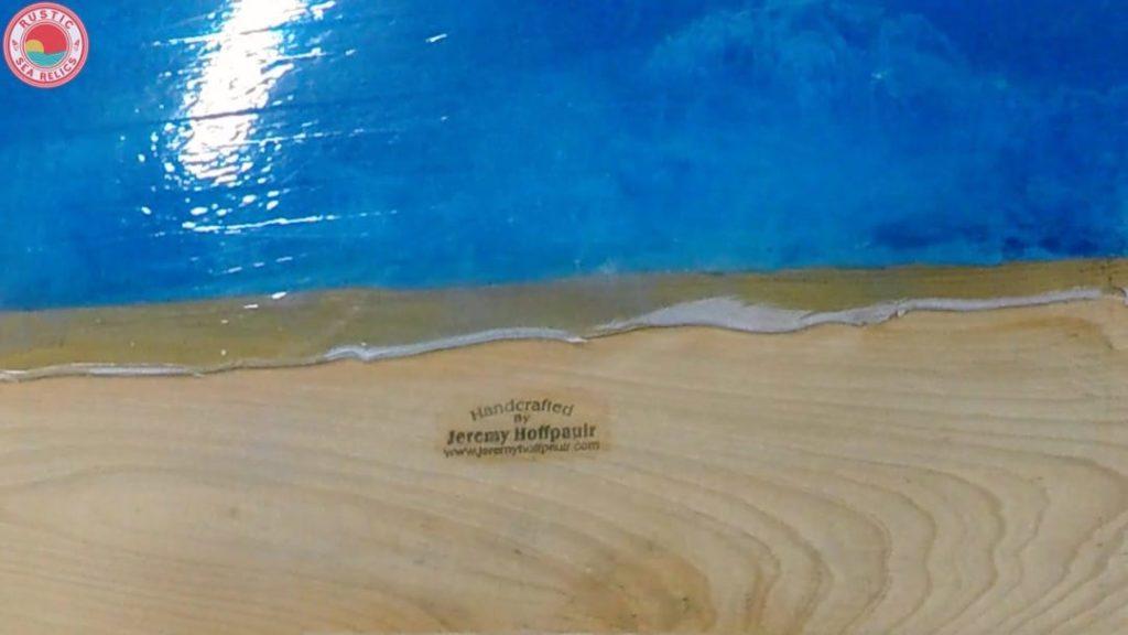 resin ocean wood art underside