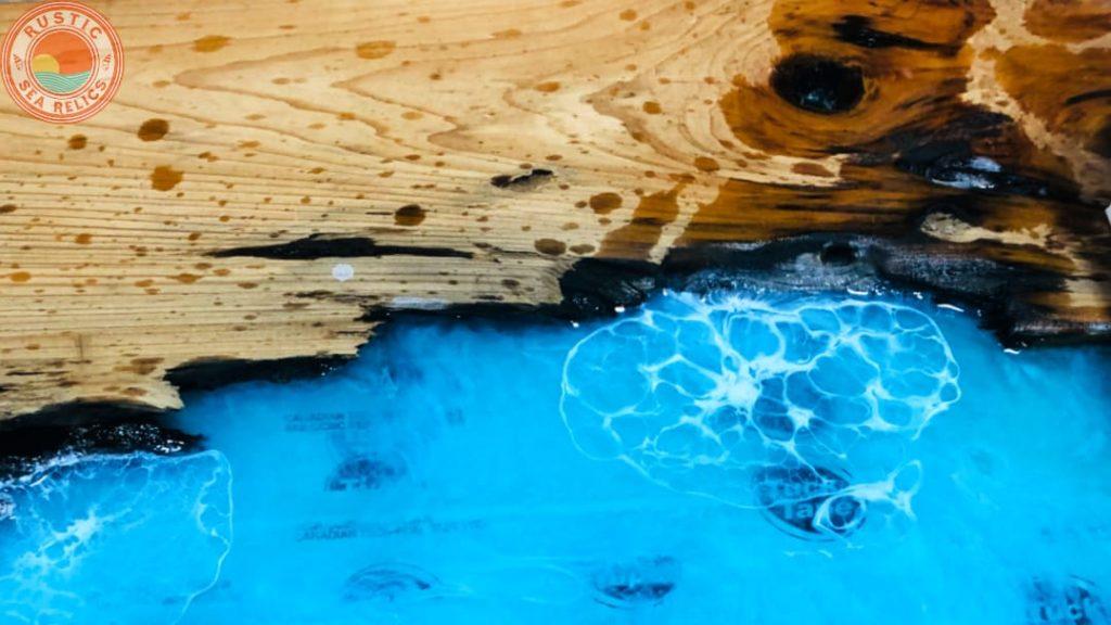 resin cells ocean wave art